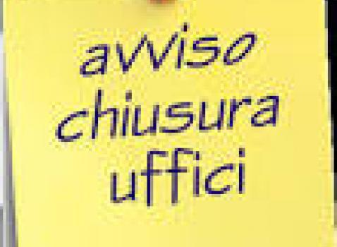 CHIUSURA UFFICI COMUNALI 09.12.2016