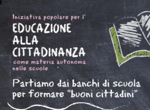 """EDUCAZIONE ALLA CITTADINANZA"""" PROPOSTA DI LEGGE DI INIZIATIVA POPOLARE"""